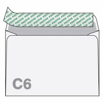 Vokai POSTFIX, C6, 114x162 mm, 50 vnt.