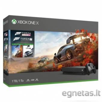 Microsoft Xbox One X 1TB black + Forza Horizon 4 + Forza Motosport 7