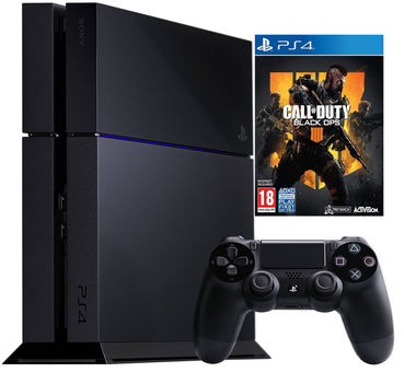 Sony Playstation 4 500GB (PS4) Black + Call of Duty: Black Ops 4